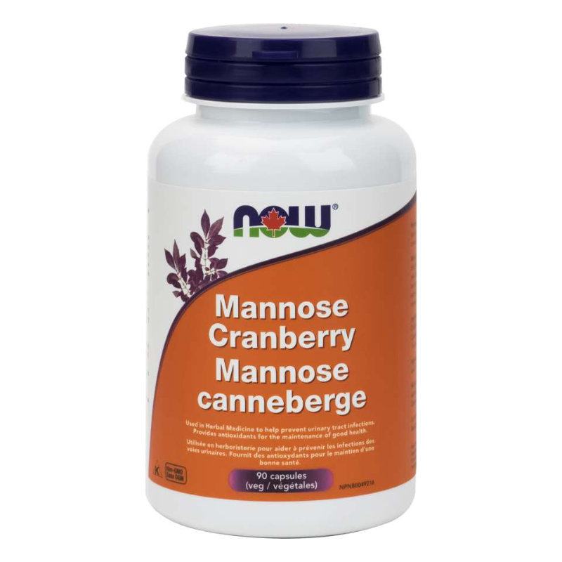NOW Mannose Cranberry 90 Softgels
