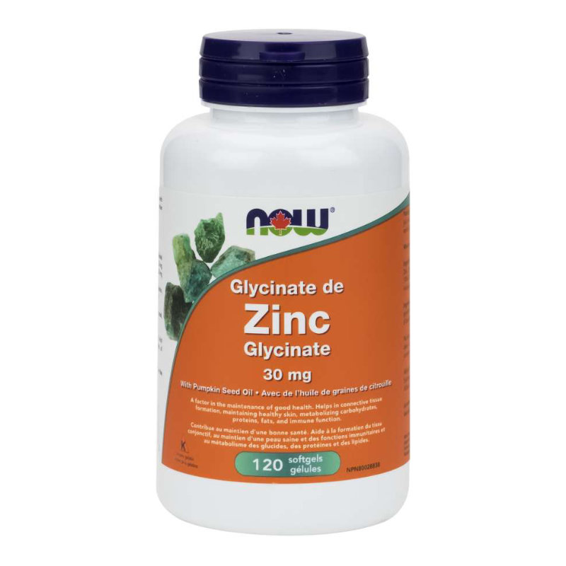 NOW Zn Glycinate 30mg